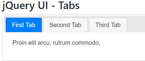 jQuery UI Tabs - BeginCodingNow com